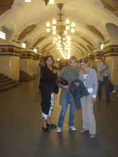 Premier repérage dans le métro en septembre avec Aurélie et Roselyne
