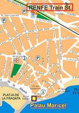 Mapa Palau Maricel de Sitges
