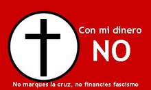 No marques la casilla de la Iglesia en la declaración de la renta. No financies fascismo.