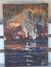 J'aime peindre les animaux et le visage des africains.