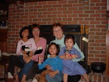 Aunt Denise & Aunt Karen With Emily, Maddie & Charlotte