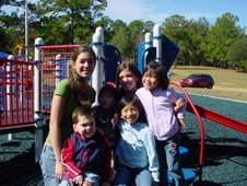 Mary Audrey's Neices, Nephew & Sisters At The Park