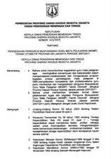 SURAT PENGESAHAN PENGURUS MGMP OTOMOTIF DKI JAKARTA