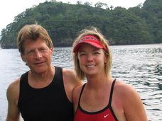 Hartley & I in Cocos Island