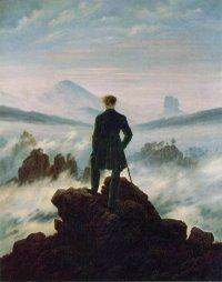 """Caspar David Friedrich """"Viandante sul mare di nebbia"""""""