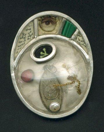 L-3, silver, pearl, gold, textil, melachit