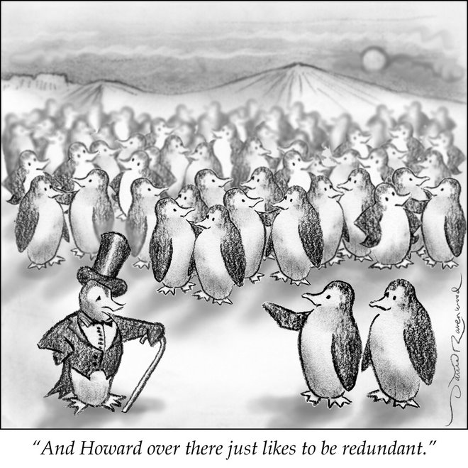 Non-Political Cartoon -- Penguin Series, number 1