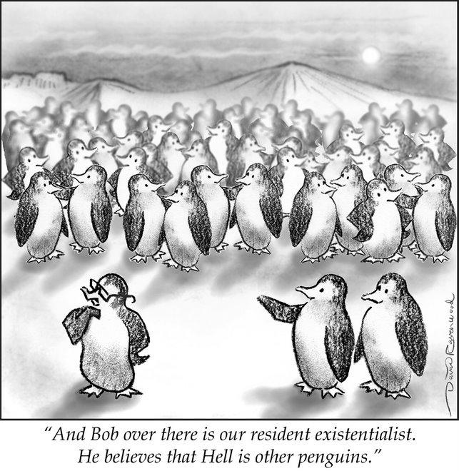 Non-Political Cartoon -- Penguin Series, number 2
