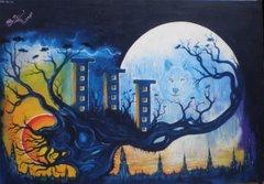 >>>>>>tela de BG Lunar, artista de São Miguel Pta.