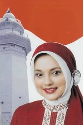 Marissa Haque Fawzi and the Banten Tower, Indonesia, 2007.