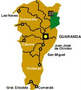 Mapa de la Prov. Bolivar