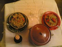 """arròs de """"bogabante"""" amb olla de fang"""