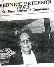 Bernice A. Peterson 1983 Mayoral Candidate