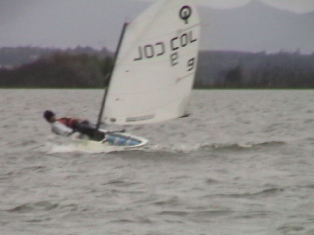 Me sailing at a Optimist championship