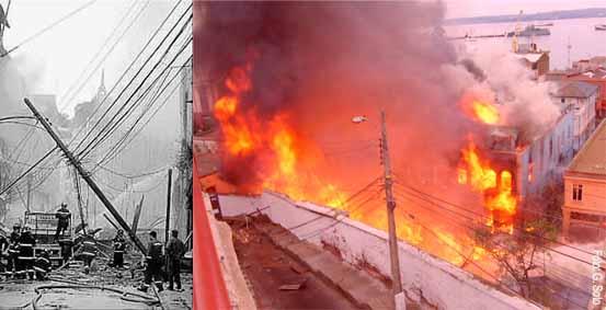 Explosión e Incendio en calle Serrano de Valparaíso