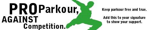 Parkour, livre de competições
