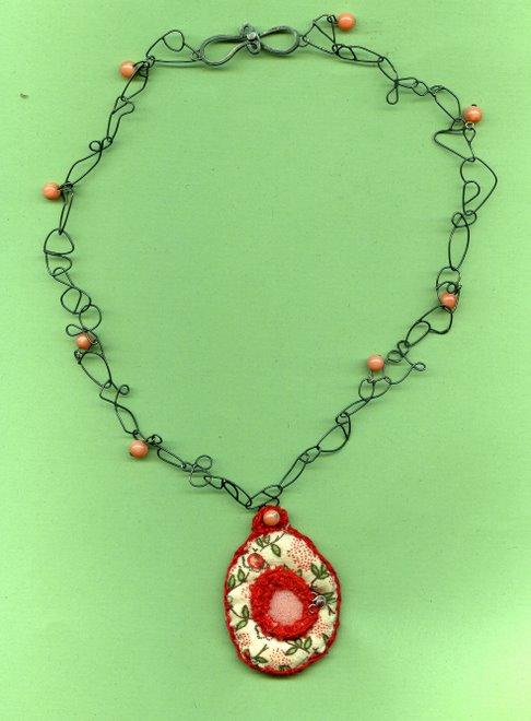 Ke-4, silver,coral, textil