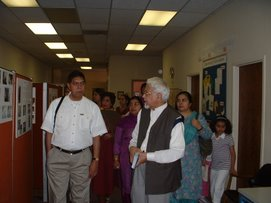 Dr. Ghazi giving a tour of Iqra Educational Foundation
