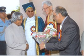 Receiving President of India, APJ Abul Kalam