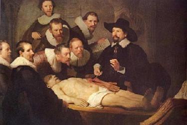 """""""leccion de anatomia del dr. Tulp"""" - rembrandt"""