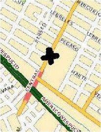 Mapa de la Defensoría Comunal
