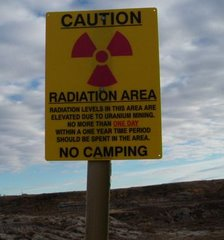 Radiological Hazard Warning Sign Recently Stolen