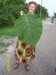 Me with a big teak leaf