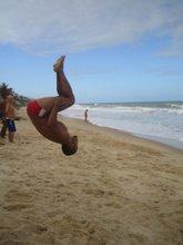 Treinamentos na praia de ponta negra-Natal/RN