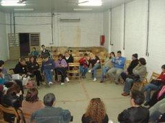 Discussão coletiva na formação da Chapa