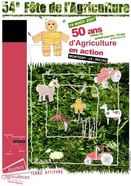 Affiche Fête de l'agriculture 2007