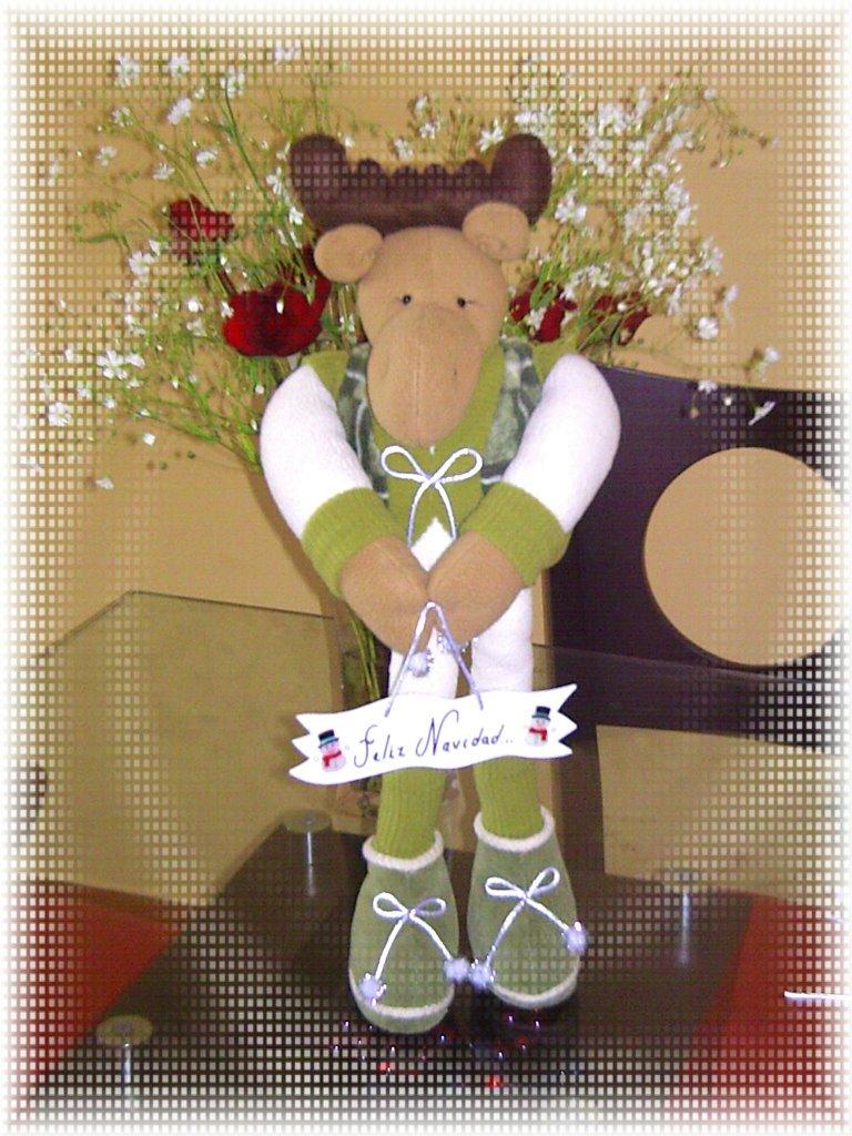 Artentelas reno navide o - Manualidades de navidad en tela ...