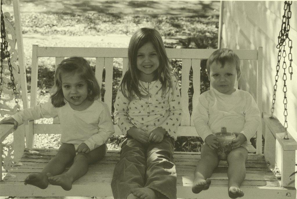 Swinging on Nanny's porch
