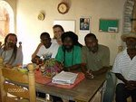 In the Bluntschli home in Haiti