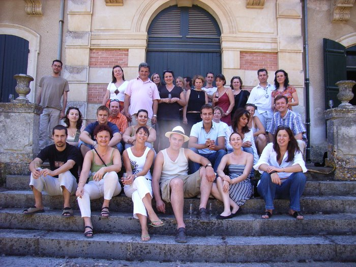le groupe devant le chateau de la Provenquière