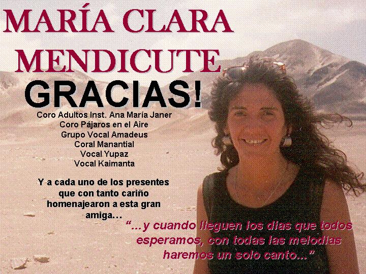 MARÍA CLARA MENDICUTE