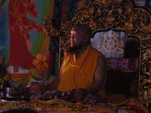 in tibetean buddhist temple of ganchen rinpoche