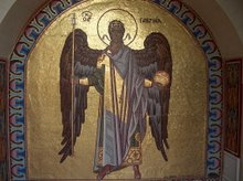 Kykkos Angel Mosaic in Monastery