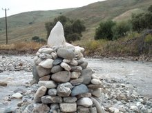 "Christa Bull""s work by Natural Art installation of Pyramide in water"