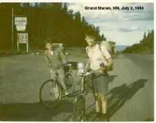 On the 1964 Bike Trip around Lake Superior
