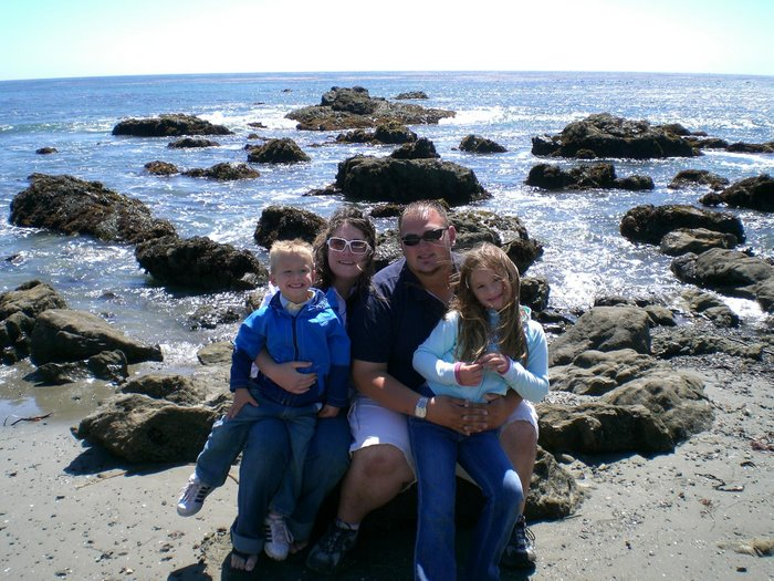 Us with our Niece and Nephew at the Beach