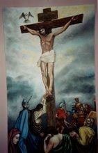 Jesus on the Cross  3'x5'