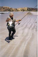 Pesca de lenguados en Ñague
