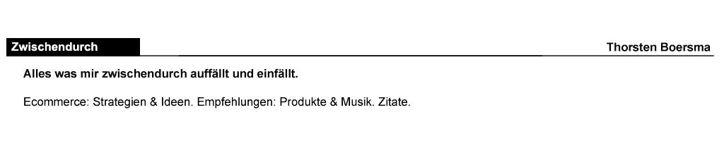 Zwischendurch@Thorsten Boersma