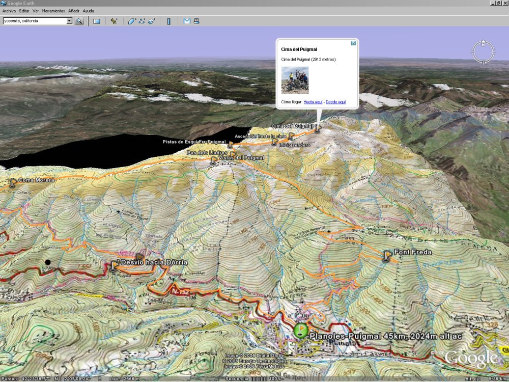 WikiLocs Blog View Your GPS Data Overlaid On Topographic Maps In - Google maps topographic view