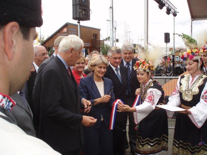 Sept 2006 - Inauguration du pavillon bulgare à la foire expo du Mans