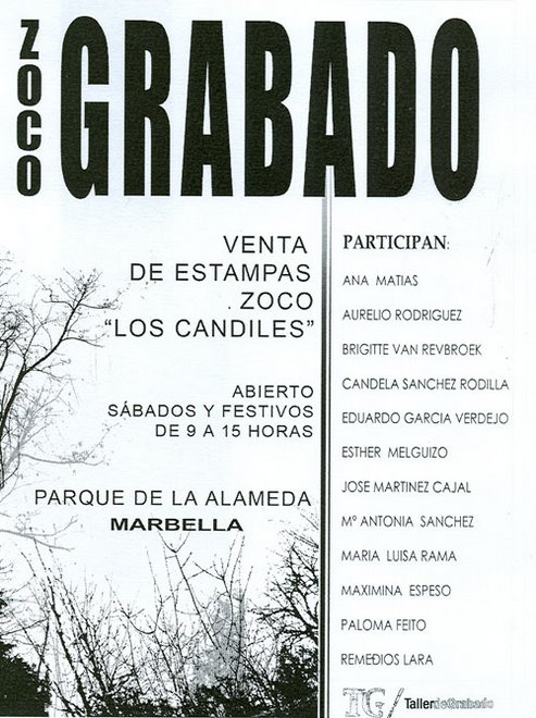 CARTEL DEL ZOCO GRABADO