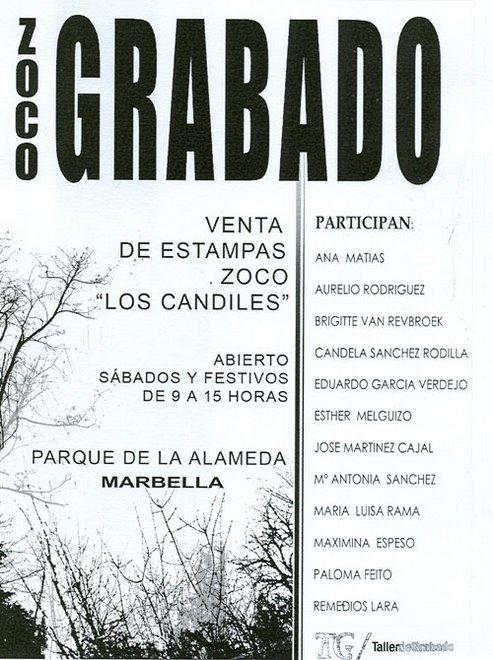 CARTEL DEL ZOCO GRABADO