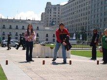 Frente al Palacio de Gobierno