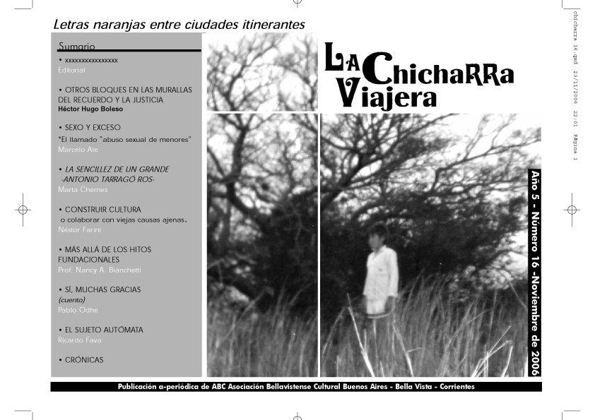 letras entre ciudades itinerantes- revista de la Asociación Bellavistense Cultural-A.B.C.