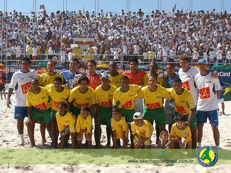 SELEÇÃO BRASILEIRA DE BEACH SOCCER BI-CAMPEÃ MUNDIAL 2002/2003 SOB O COMANDO DO PROF ANDREY VALERIO